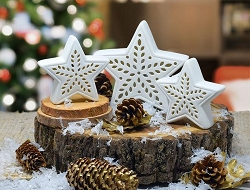 Porcelain LED Star 3-Piece Set