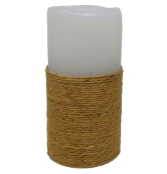 LED Jute Wrapped Wax Candle Fountain