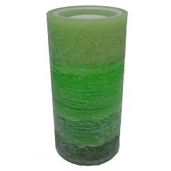 LED Green Wax Candle Fountain
