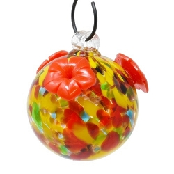 Glass Globe Hummingbird Feeder Summer Shades