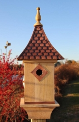 Copper Shingled Roof Bird House