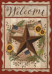 Briarwood Lane Autumn Welcome Barnstar Garden Flag