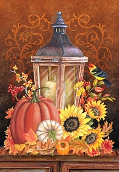 Briarwood Lane Fall Lantern Garden Flag