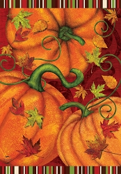 Briarwood Lane Pumpkin Patch House Flag