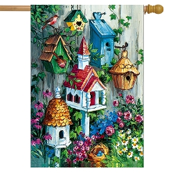 Briarwood Lane Birdhouse Gathering House Flag