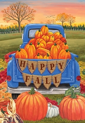 Briarwood Lane Happy Fall Pickup House Flag