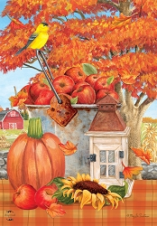 Briarwood Lane Apple Picking House Flag