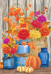 Briarwood Lane Fall Mason Jars Garden Flag