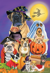 Briarwood Lane Trick or Treat Dogs House Flag