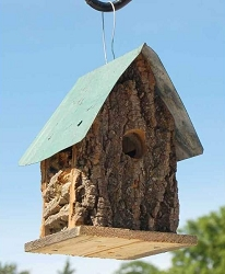 Bird In Hand Amish Bark Cabin Birdhouse Set of 3