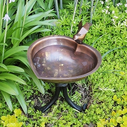 Achla Heart Shaped Birdbath with Tripod Stand