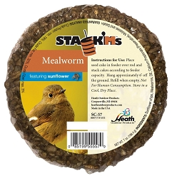 Stack'M Seed Cake Mealworm with Sunflower 6/Pack