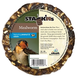 Stack'M Seed Cake Mealworm with Peanut & Raisin 6/Pack