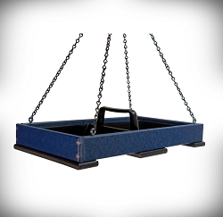 Recycled Poly Hanging Platform Feeder Large Blue