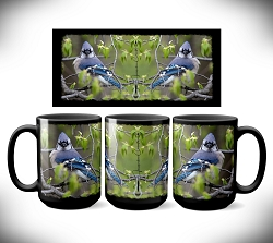Blue Jay Coffee Mug 15 oz. Set of 2