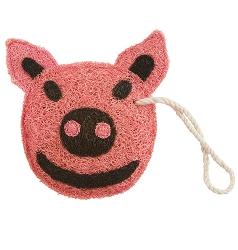 Loofah Natural Scrubber Piggy