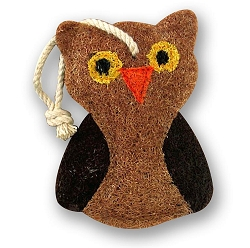 Loofah Natural Scrubber Owl