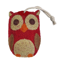 Loofah Natural Scrubber Red Owl