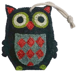 Loofah Natural Scrubber Black Owl
