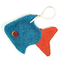 Loofah Natural Scrubber Tropical Fish