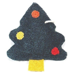 Loofah Natural Scrubber Christmas Tree