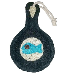 Loofah Natural Scrubber Fish Fry Skillet