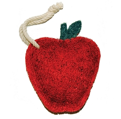 Loofah Natural Scrubber Red Apple