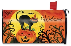 Briarwood Lane Black Cat Mailbox Cover