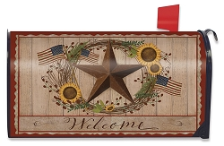 Briarwood Lane Autumn Welcome Barnstar Mailbox Cover