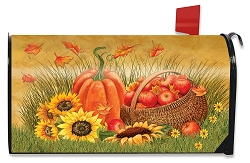 Briarwood Lane Pumpkin and Apples Mailbox Cover