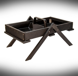 Recycled Poly Large Tray Ground Feeder Black