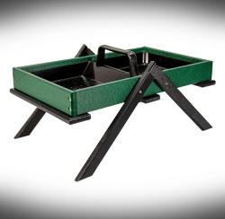 Recycled Poly Large Tray Ground Feeder Green