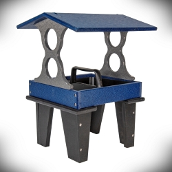 Recycled Poly Ground Fly-Through Feeder Medium Blue/Gray