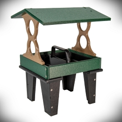 Recycled Poly Ground Fly-Through Feeder Medium Green/Tan