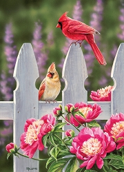 Cardinals and Peonies 1000 Piece Jigsaw Puzzle