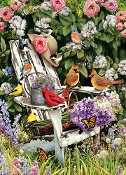 Summer Adirondack Birds 1000 Piece Jigsaw Puzzle