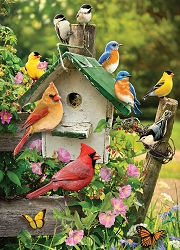 Summer Birdhouse 1000 Piece Jigsaw Puzzle