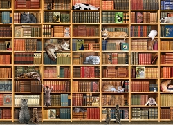 The Cat Library 1000 Piece Jigsaw Puzzle