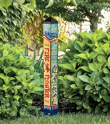 Custom Personalized 3 ft. Art Pole 4x4 Firefighter