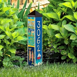 Custom Personalized 2 ft. Address Art Pole 5x5 Lake/Cabin