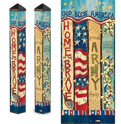 Custom Personalized Patriotic 3 ft. Art Pole 4x4 Army