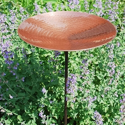 Achla Polished Copper Birdbath with Stake