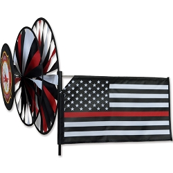 Thin Red Line Triple Wind Spinner