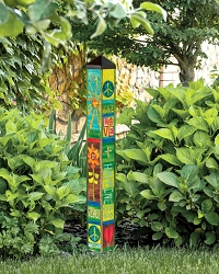 3 ft. Art Pole 4x4 Peace and Love