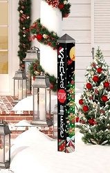 3 ft. Art Pole 4x4 Santa Stops Here