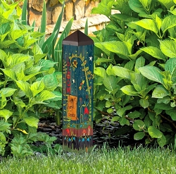 20 Inch Art Pole 4x4 Secret Garden