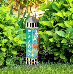 20 Inch Art Pole 4x4 Folk Garden