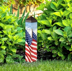 20 Inch Art Pole 4x4 America the Beautiful