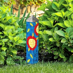 20 Inch Art Pole 4x4 Pop of Flowers