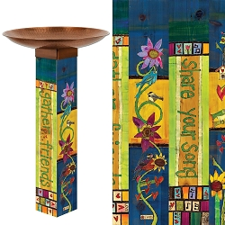 Gather Friends Art Pole Birdbath 5x5